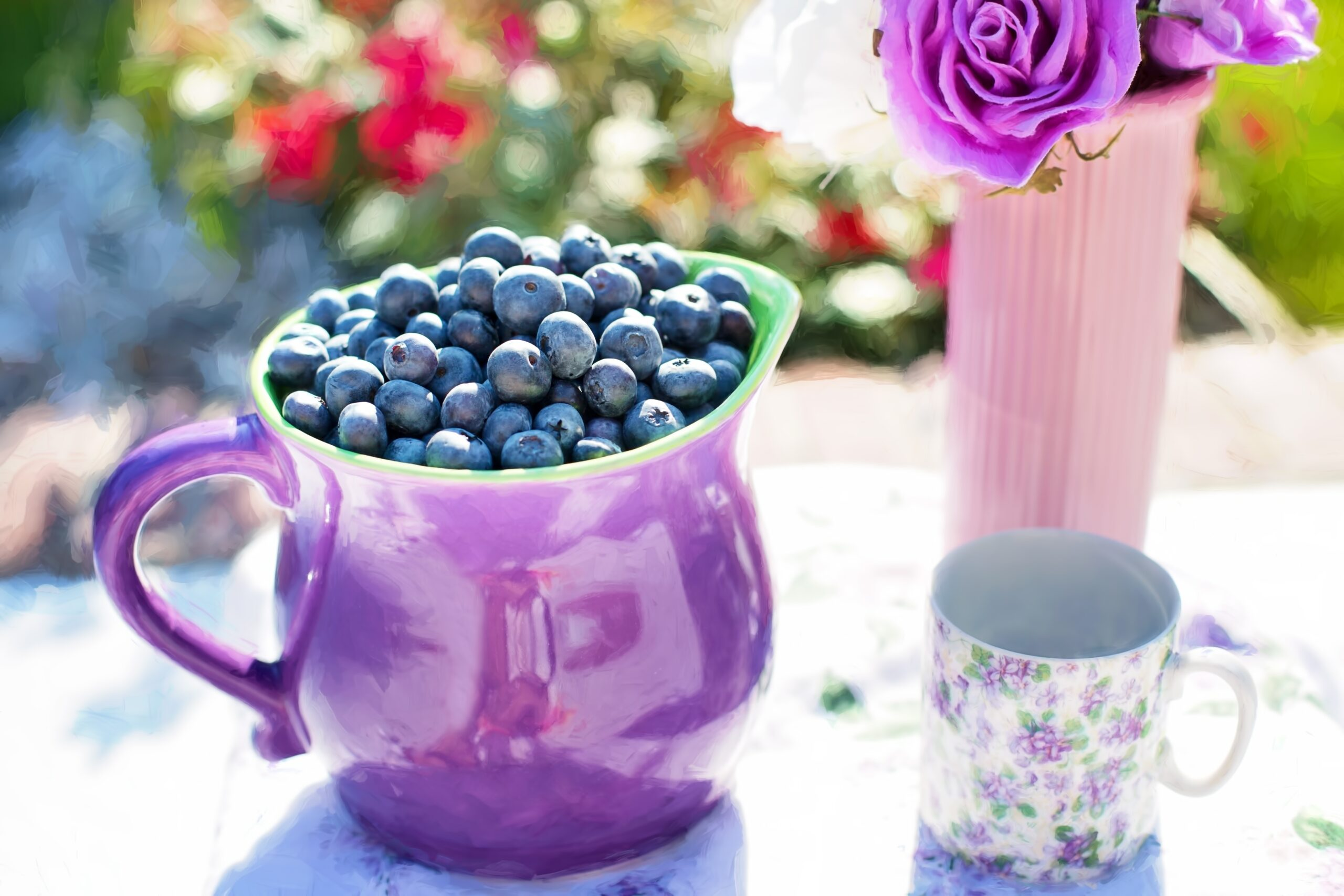 blueberries summer fruit fresh