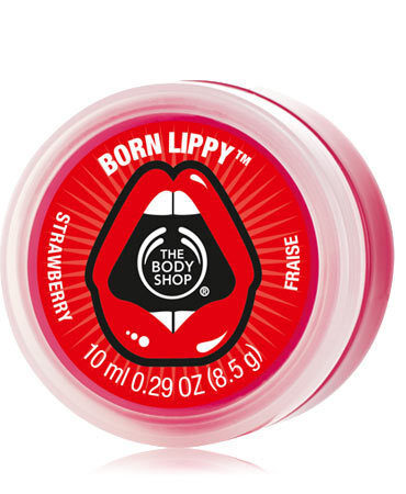 born lippy pot lip balm strawberry