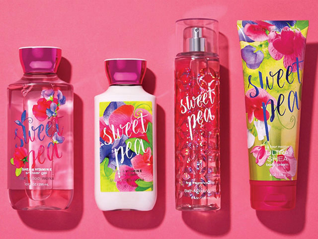 bath and body works products sweat pea