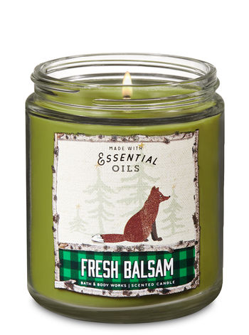 Bath & Body Works - Fresh Balsam Single Wick Candle