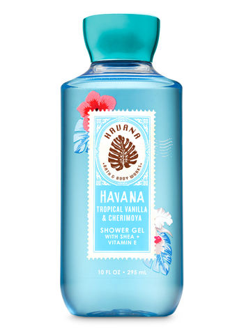Bath Body Works Tropical Vanilla Vanilla Shower Gel