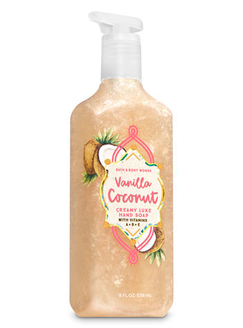 Bath Body Works Vanilla Coconut Luxe Hand Soap
