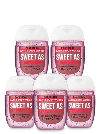 Sweet as Strawberries Bath Body Works Pocketbac Hand Sanitiser