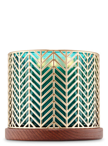Golden Chevron Candle Holder