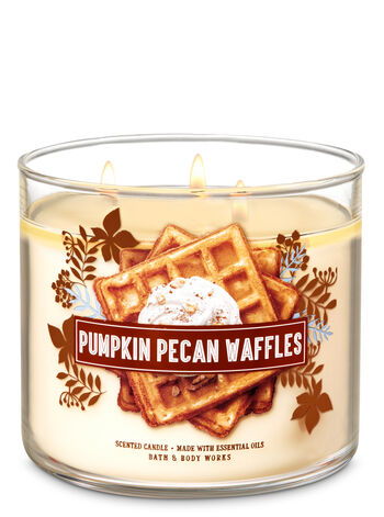 Pumpkin Pecan Waffles 3 Wick Candles