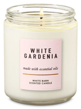 White Gardenia Sngle Wick Candle