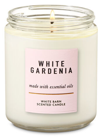 White Gardenia Single Wick
