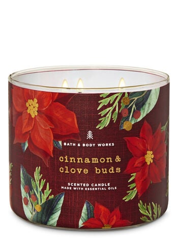 Bath Body Works Cinnamon Clove Buds 3 Wick Candle