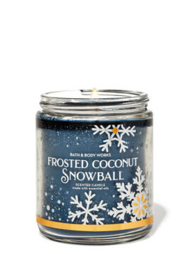 FROSTED COCONUT SNOWBALL candle