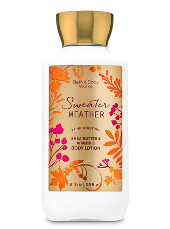 SWEATER WEATHER lotion